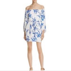 Bardot Tash printed off the shoulder dress NWT